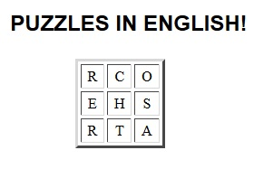 Puzzles In English